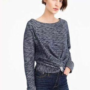 j crew 100%cotton pullove sweatshirt